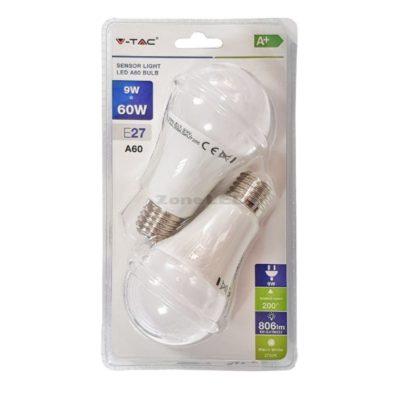 LED žiarovka, 3-krokové stmievanie, E27, 9W, 4000K, balenie 2 ks