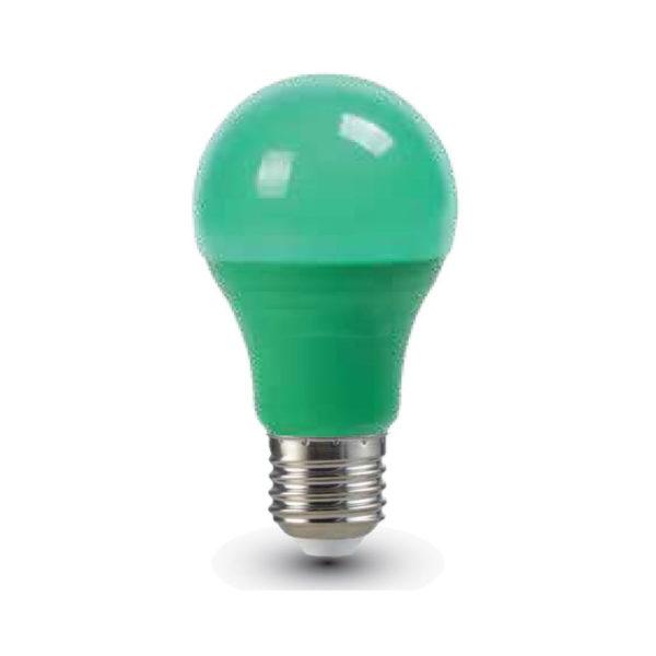 LED žiarovka s farebným krytom - E27, 9W, Zelená farba, 806lm