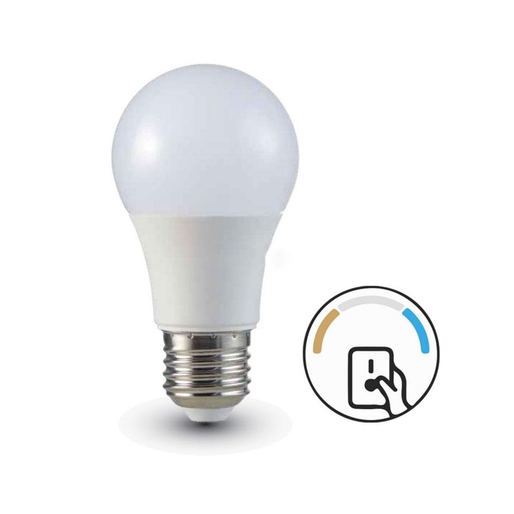 LED žiarovka so zmenou farby - E27, 9W, Teplá - Denná - Studená biela, 806lm