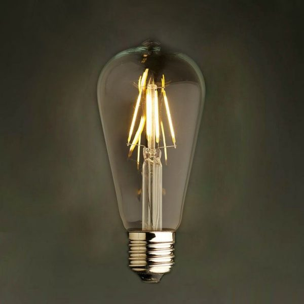 Stmievateľná FILAMENT žiarovka - TEARDROP - E27, Teplá biela (2)