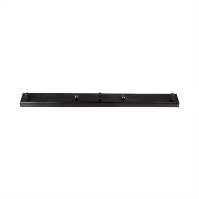 Stropný obdĺžnikový držiak na 3 svietidlá, kovový, 3 pätice, čierna farba. Naša rada stropných držiakov je vhodná pre každý typ svietidiel
