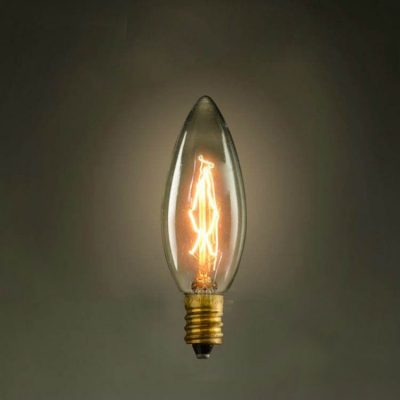 EDISON žiarovka - CANDLE - E14, 40W, 120lm - je dekoračná žiarovka z retro kolekcie EDISON, ktorá je vhodná ako priemyselné retro osvetlenie.