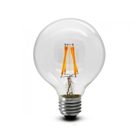 FILAMENT žiarovka - Globus - E27, 4W, 450lm, Teplá biela