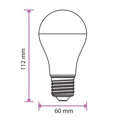 LED Žiarovka SAMSUNG čip, E27, 9W, Teplá biela, 806lm je veľmi kvalitná žiarovka, ktorá obsahuje originálny čip od prestížnej značky SAMSUNG (2)
