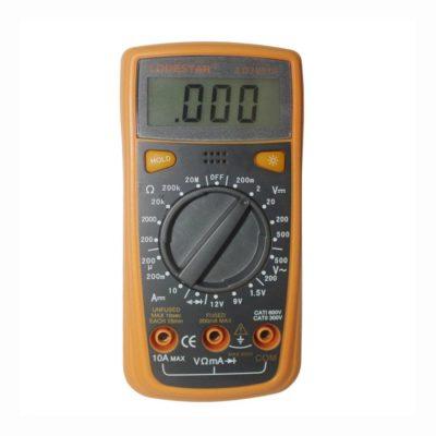 Digitálny multimeter s LED podsvietením - LODESTAR. Univerzálny digitálny MultiMeter s LED podsvietením. Elektrický tester odporu, Prudové napätie, Kapacitant, Diagnostický prístroj. (4)