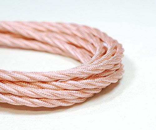 Kábel dvojžilový skrútený v podobe textilnej šnúry v ružovo zlatej farbe, 2 x 0.75mm, 5 metrov (zvýhodnená cena)