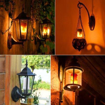 LED žiarovka imitujúca plameň, E27, 3W, Teplá biela, dva módy. LED žiarovka s originálnym naprogramovaním, imituje horiaci plameň, efekt sa znásobí použitím vhodného svietidla s mliečnym sklom (5)