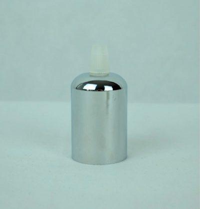 Chrómová kovová krytka + E27 biela objímka + 1 priehľadný držiak kábla. Predstavujeme vám masívny komponent vmodernomštýle pre Vaše svietidlo (2)