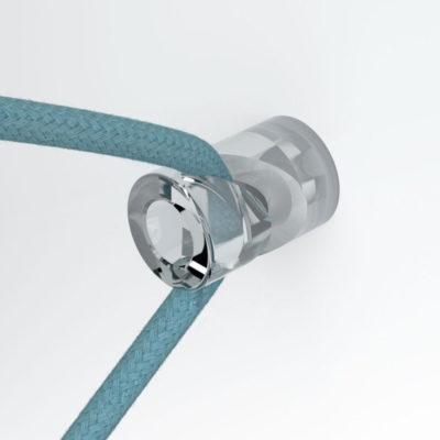 Decentralizér - stropný alebo nástenný háčik pre textilné káble, transparentný (2)