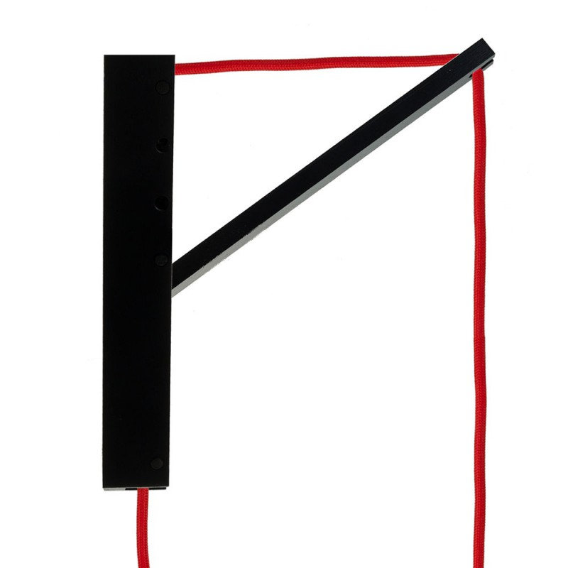 Drevený nástenný držiak pre závesnú lampu Pinocchio v čiernej farbe (3)