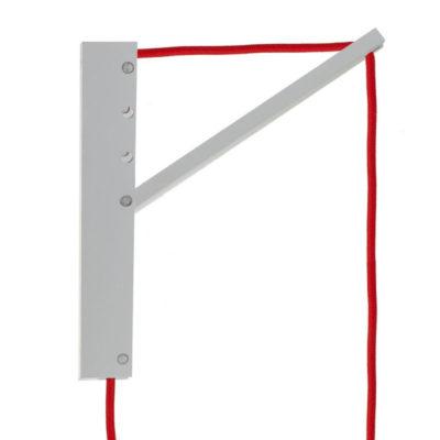 Drevený nástenný držiak pre závesnú lampu Pinocchio v bielej farbe (3)