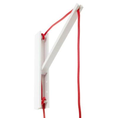 Drevený nástenný držiak pre závesnú lampu Pinocchio v bielej farbe (9)