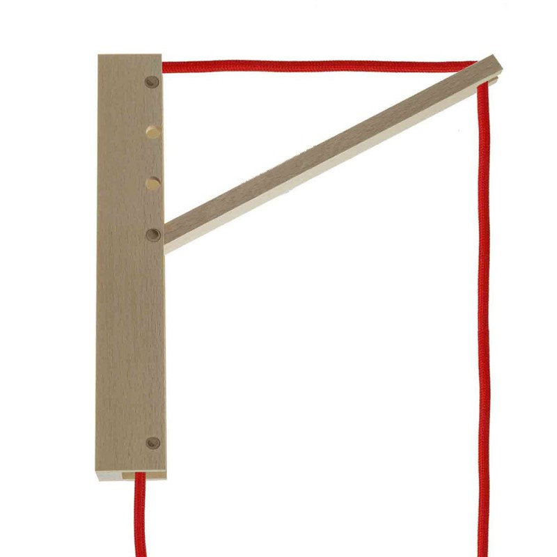 Drevený nástenný držiak pre závesnú lampu Pinocchio v hnedej farbe (4)