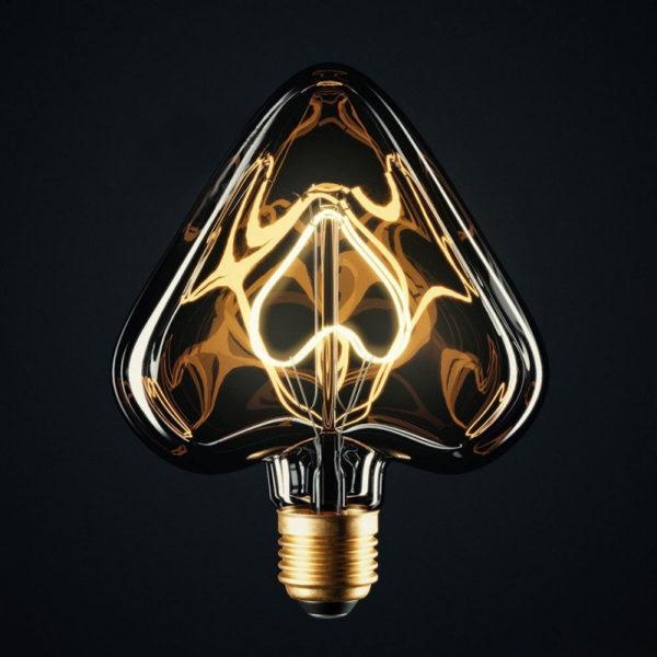 Edison Soft žiarovka HEART, E27, 110lm, 5W, Teplá biela, stmievateľná (1)