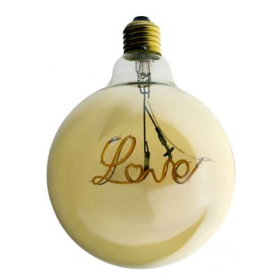 Edison Soft žiarovka, Love, E27, 130lm, 4W, Teplá biela, stmievateľná (1)