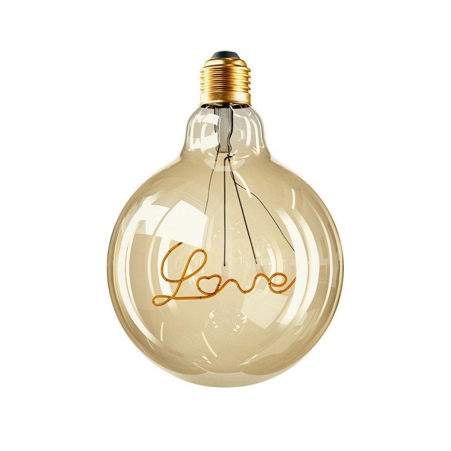 Edison Soft žiarovka, Love, E27, 130lm, 4W, Teplá biela, stmievateľná