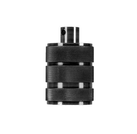 Masívna retro objímka E27 • kov • čierna farba