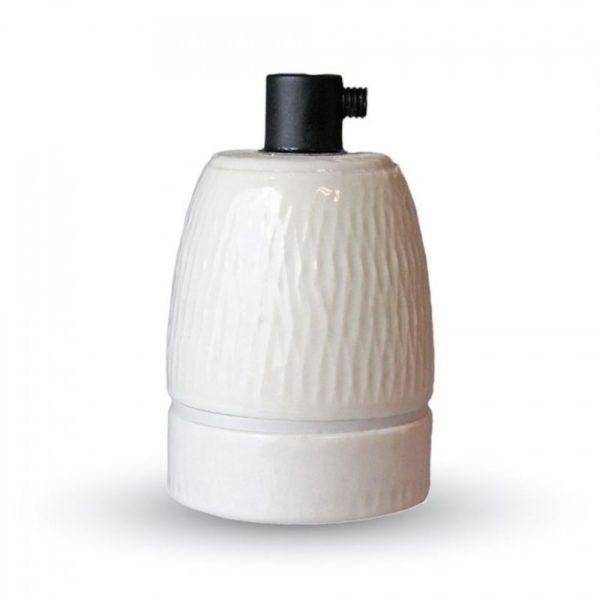 Porcelánová objímka E27 • biela farba