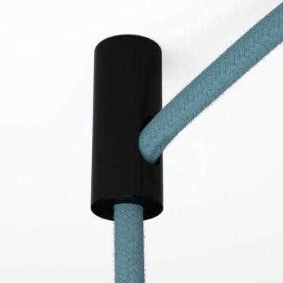 Stropný decentralizér - háčik pre textilné káble v čiernej farbe (1)
