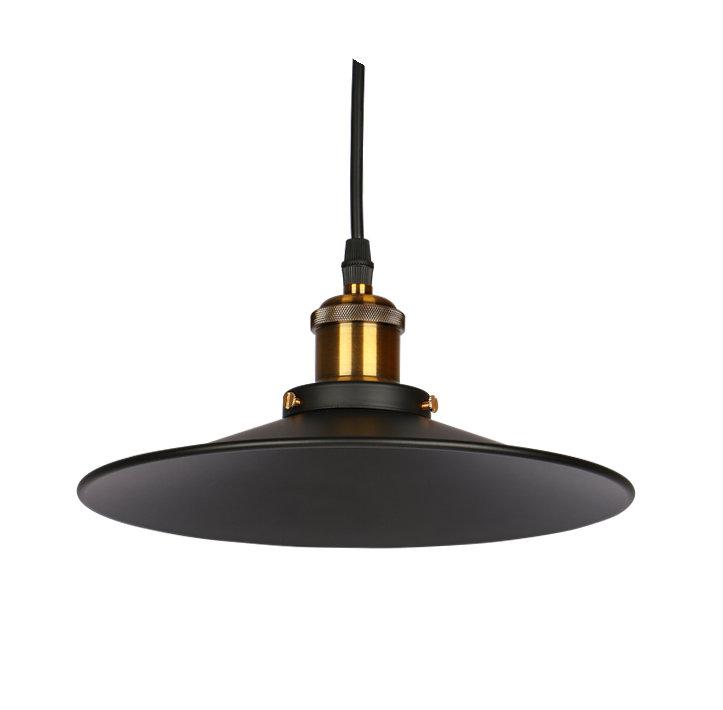Retro kovové tienidlo v matnej čiernej farbe, priemer 22cm