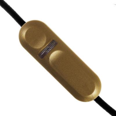 Stmievač pre klasické a LED žiarovky, zlatá farba (2)