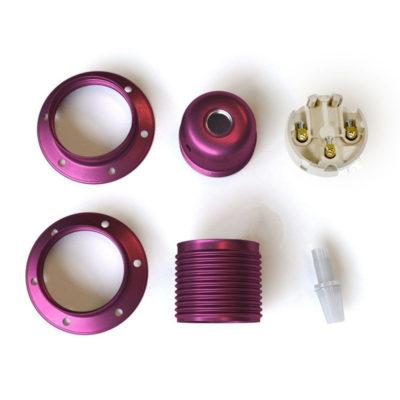 kovová-e27-objímka-exclusive-ultrafialovej-metalickej-farby-s-2-krúžkami-na-tienidlo-100-vyrobená-v-taliansku