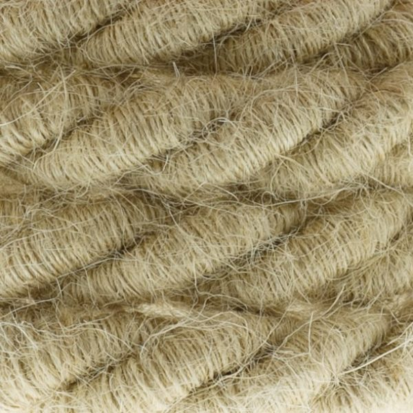 Elektrický trojžilový kábel v tvare lana, Ø 16MM, Juta, 1 meter (1)