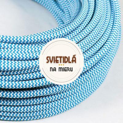 Kábel-dvojžilový-v-podobe-textilnej-šnúry-so-vzorom-BlueWhite-2-x-0.75mm-1-meter-2
