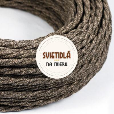 Kábel-dvojžilový-v-podobe-textilnej-šnúry-so-vzorom-Marrone-2-x-0.75mm-1-meter-2