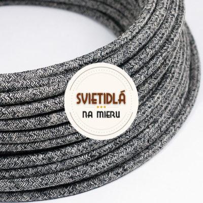 Kábel-dvojžilový-v-podobe-textilnej-šnúry-so-vzorom-NeroLino-2-x-0.75mm-1-meter-2
