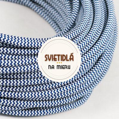 Kábel-dvojžilový-v-podobe-textilnej-šnúry-so-vzorom-WhiteDark-blue-2-x-0.75mm-1-meter-2
