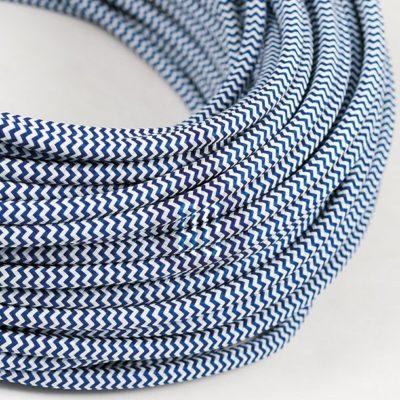 Kábel dvojžilový v podobe textilnej šnúry so vzorom WhiteDark blue, 2 x 0.75mm, 1 meter (2)