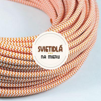 Kábel-dvojžilový-v-podobe-textilnej-šnúry-so-vzorom-WhiteOrange-2-x-0.75mm-1-meter-2