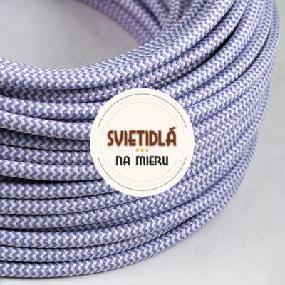 Kábel-dvojžilový-v-podobe-textilnej-šnúry-so-vzorom-WhitePurple-2-x-0.75mm-1-meter-2