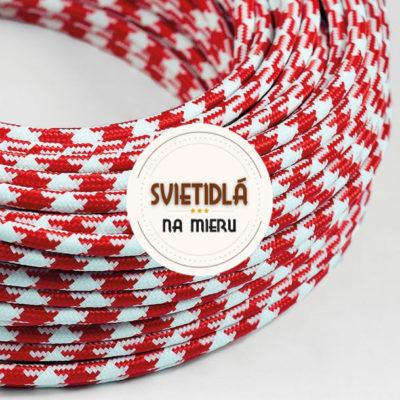 Kábel-dvojžilový-v-podobe-textilnej-šnúry-so-vzorom-WhiteRed-2-x-0.75mm-1-meter-2