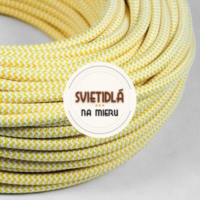 Kábel-dvojžilový-v-podobe-textilnej-šnúry-so-vzorom-WhiteYellow-2-x-0.75mm-1-meter-2