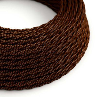 Kábel dvojžilový skrútený v podobe textilnej šnúry so vzorom, Whiskey, 2 x 0.75mm, 1 meter