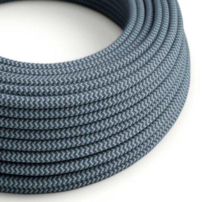 Kábel dvojžilový v podobe textilnej šnúry so vzorom, Avio/Jeans, 2 x 0.75mm, 1 meter