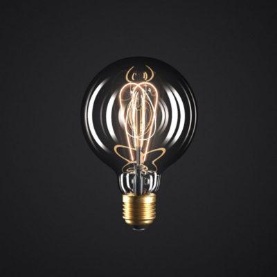 Edison Soft žiarovka, Dymová LED žiarovka - GLOBUS - 5W, E27, Stmievateľná, 2000K (1)