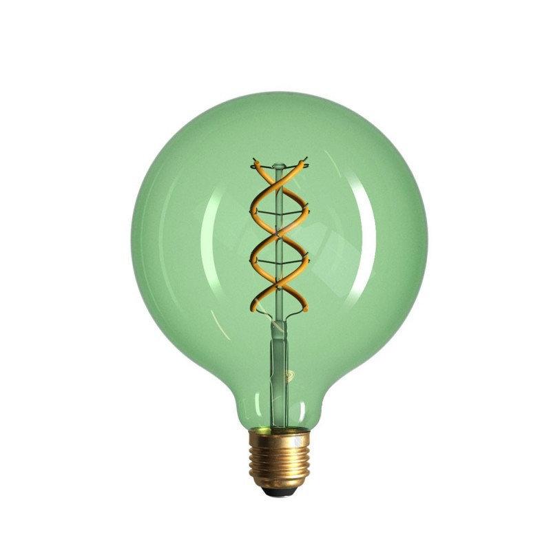 Edison Soft žiarovka, Smaragdová LED žiarovka - SPHERE - 5W, E27, Stmievateľná, 2200K (1)