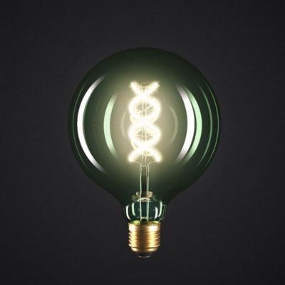 Edison Soft žiarovka, Smaragdová LED žiarovka - SPHERE - 5W, E27, Stmievateľná, 2200K (2)