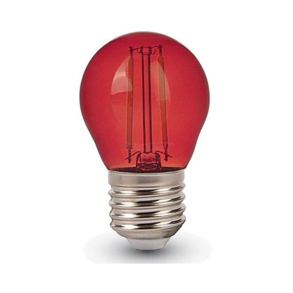 FILAMENT žiarovka - LITTLE - E27, Červená, 4W, 60lm, V-TAC