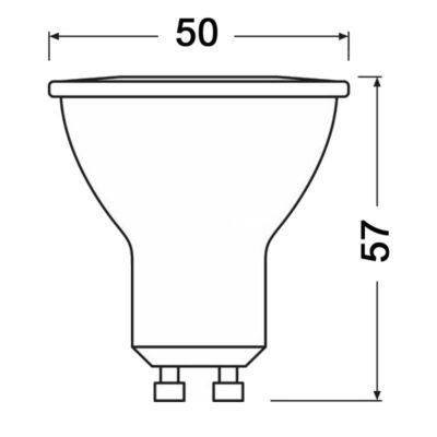 LED žiarovka GU10, 5W, denná biela, 320lm, zvýhodnené balenie 3ks (1)