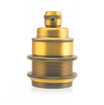 Masívna dekoračná objímka E27 v zlatej farbe (1)