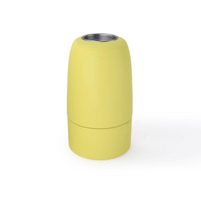 Porcelánová objímka s päticou E14 • Italy • žltá