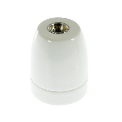Porcelánová objímka s päticou E27 • Italy • biela (1)