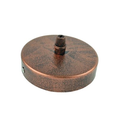 Závesný okrúhly stropný držiak • kovový • staro medená (3)