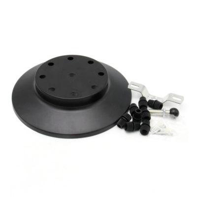 Závesný okrúhly stropný držiak, kovový, 10 pätíc, čierna farba (2)