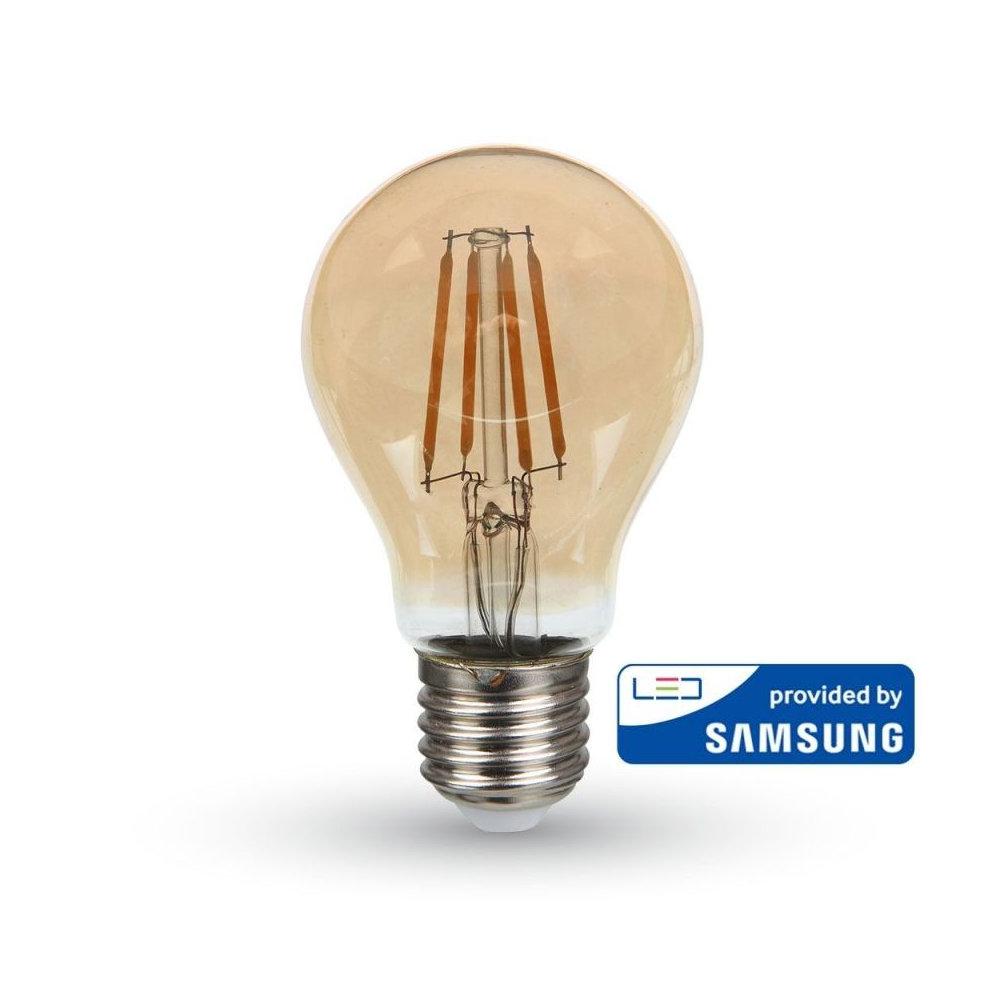 FILAMENT žiarovka so SAMSUNG čipom - Classic - E27, 6W, 725lm, Teplá biela