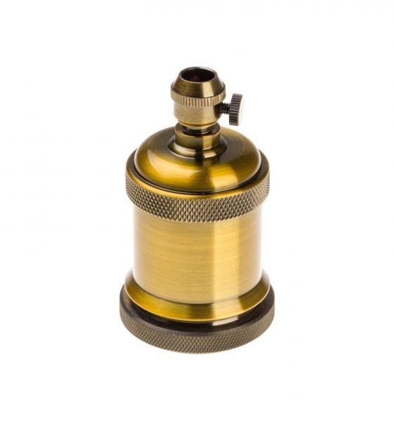 Objímka v historickom štýle, kovová, staro zlatá farba